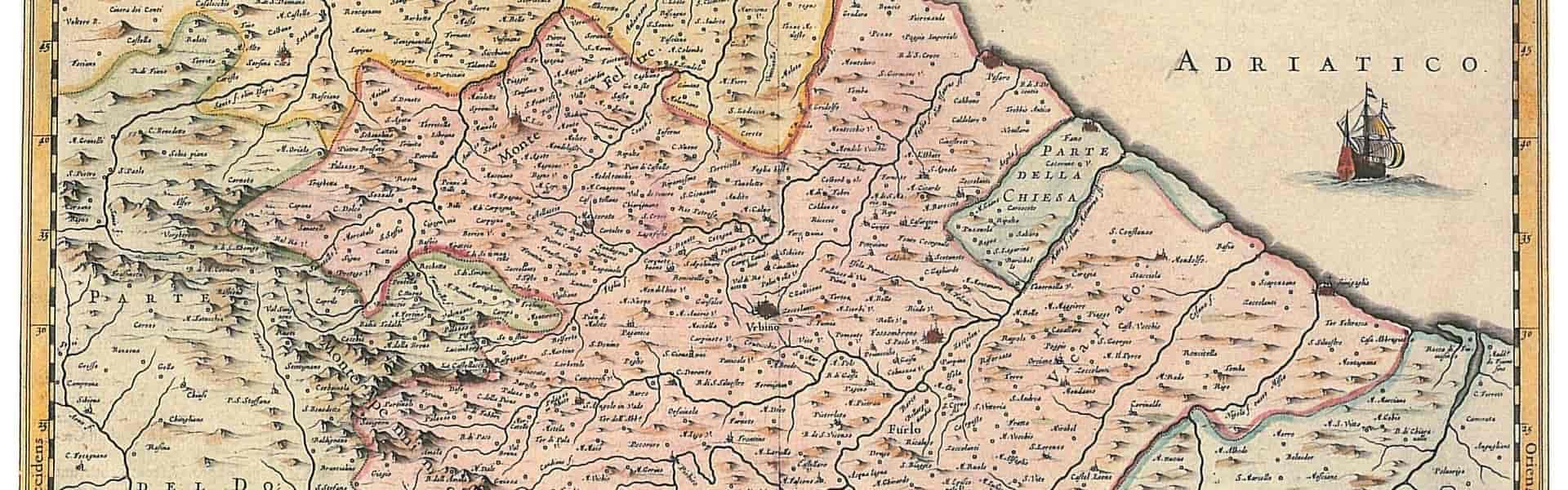 ufficio di vallefoglia notaio dario colangeli mappa ducato di urbino grande