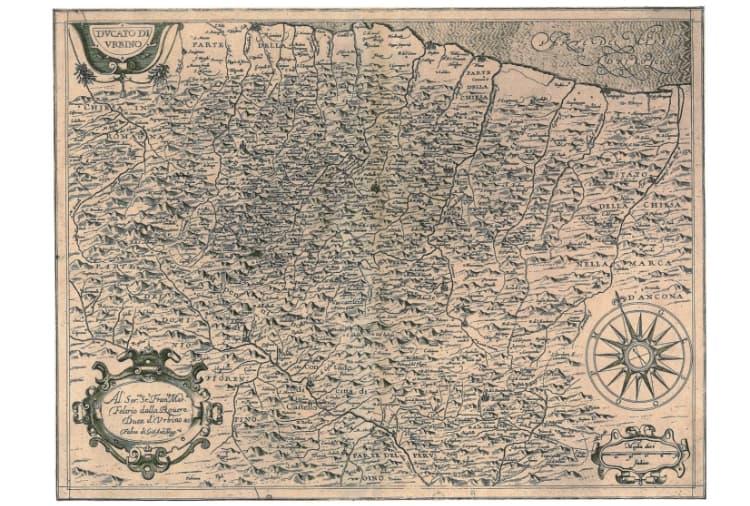 ufficio di vallefoglia notaio dario colangeli mappa ducato di urbino